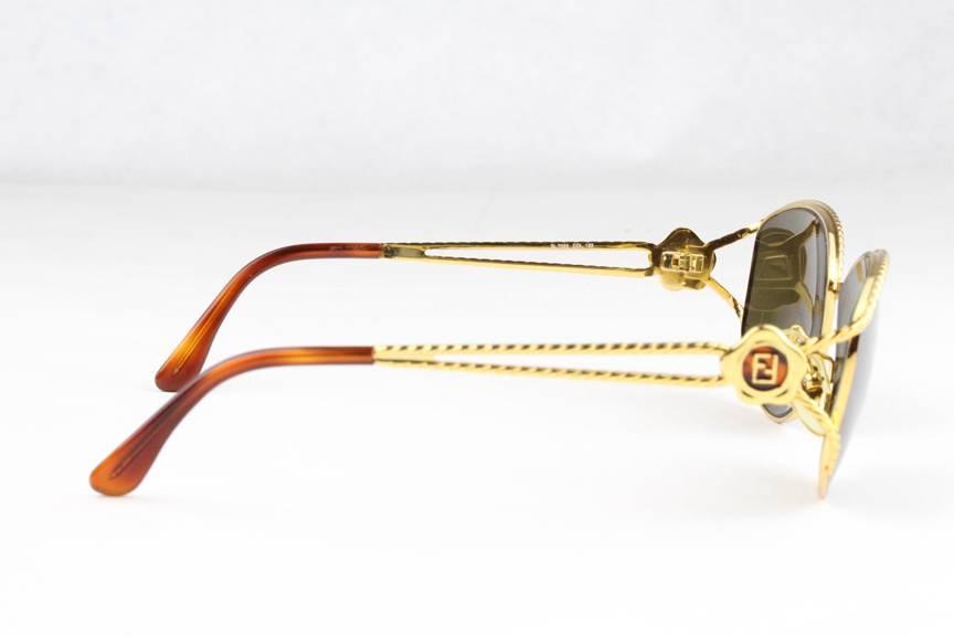 Fendi Glasses Gold Frames : New Vintage Fendi SL 7022 Sunglasses Frames Gold Brown 123 ...