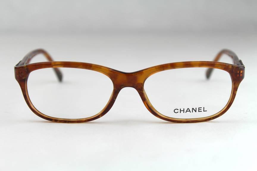 Chanel Glasses Frames Leather : New Authentic Chanel CH 3236-Q Eyeglasses Frames Honey ...