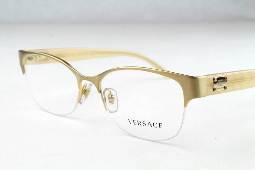 Versace Glasses Gold Frame : New Versace VE 1222 Eyeglasses Frames Gold Beige 1196 ...