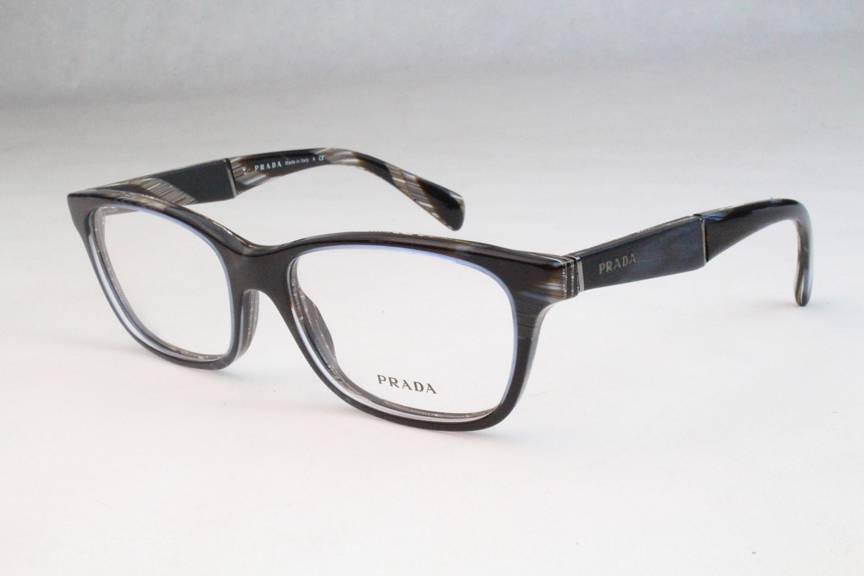 Eyeglass Frames Hurt Ear : New Prada VPR14P Eyeglasses Frames Blue Brown Horn EAR-1O1 ...
