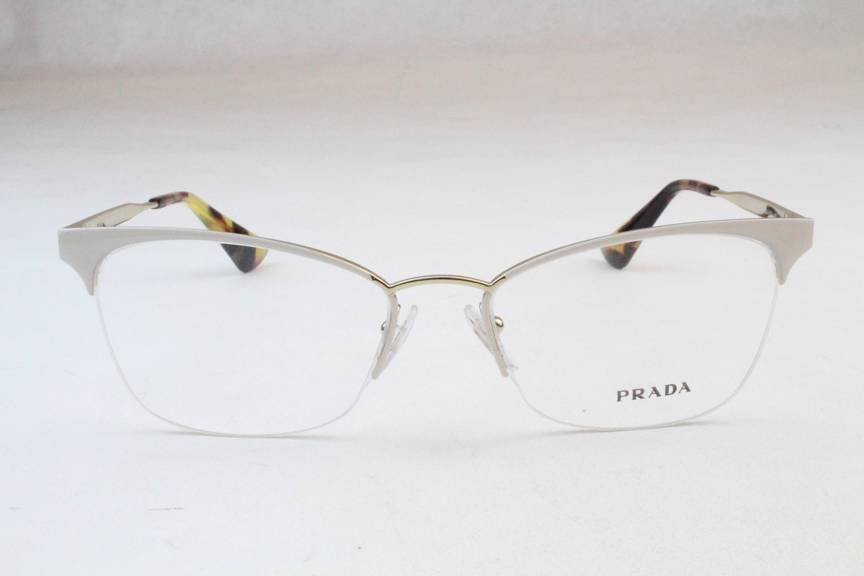 Prada White Frame Glasses : New Prada VPR65Q Eyeglasses Frames White Gold SL4-1O1 ...