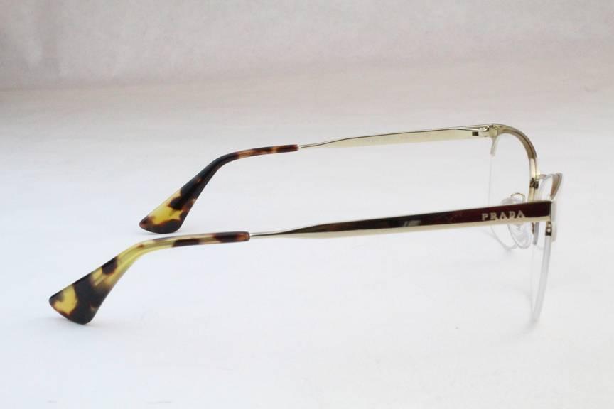 New Prada VPR65Q Eyeglasses Frames White Gold SL4-1O1 ...