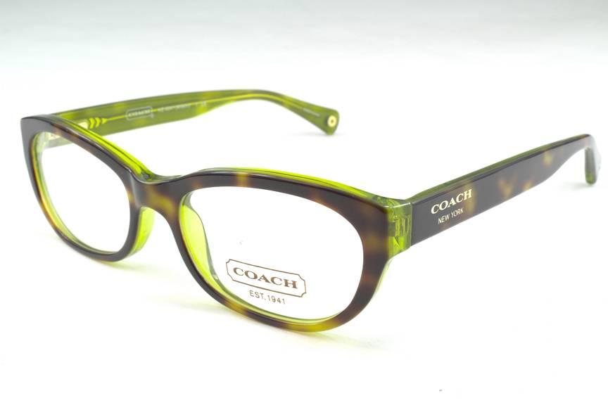 New Coach Eyeglass Frames : New Coach HC 6041 Kristin Eyeglasses Frames Tortoise Green ...