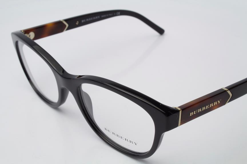 New Burberry Eyeglass Frames : New Burberry 2151 Eyeglasses Frames Black 3001 Authentic ...