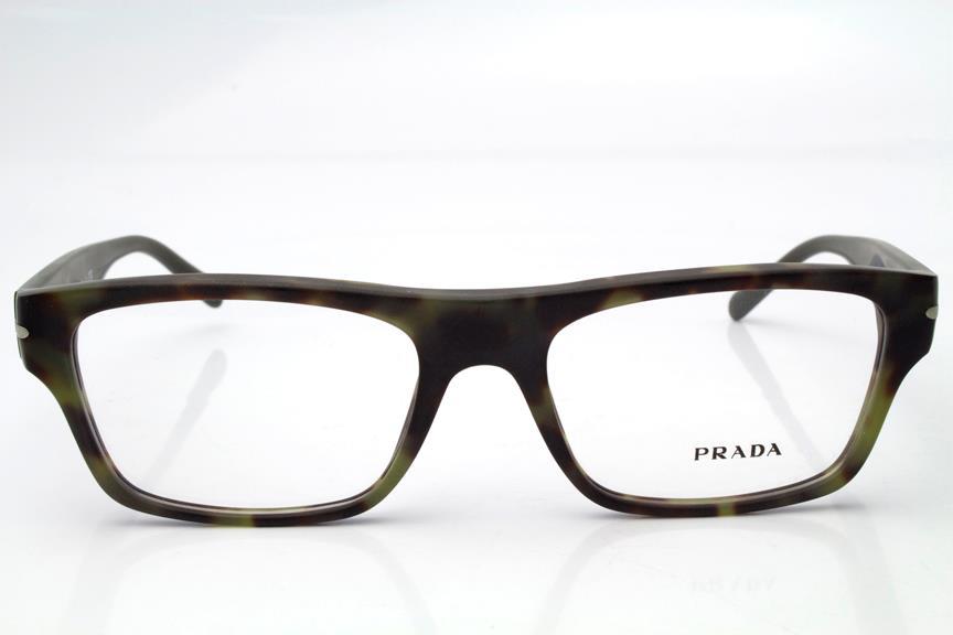 Prada VPR18R Eyeglasses Frames Matte Green Havana NAJ-1O1 ...