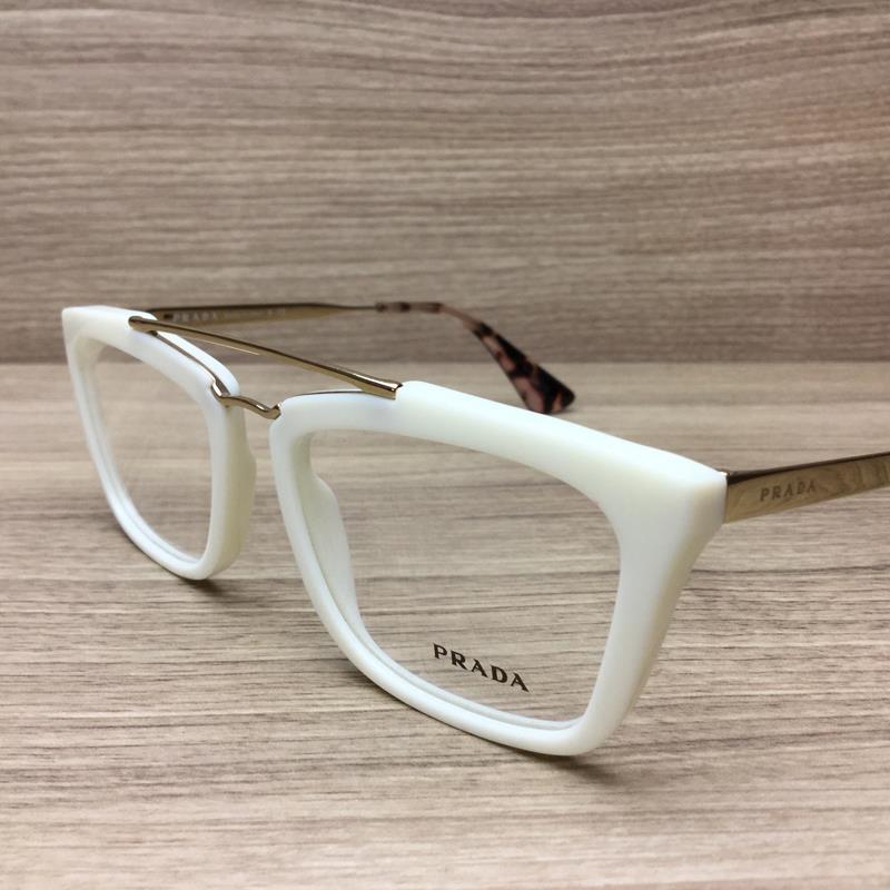 Prada White Frame Glasses : New Prada VPR18Q Eyeglasses Frames Ivory White Gold 7S3 ...