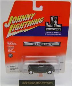 1934 FORD COUPE BLACK JOHNNY LIGHTNING DIECAST 164