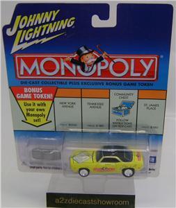 MONOPOLY 1969 CAMARO JOHNNY LIGHTNING DIECAST 164