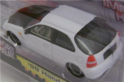 HONDA CIVIC IMPORT HEAT STREET FREAKS WHITE JOHNNY LIGHTNING DIECAST 1