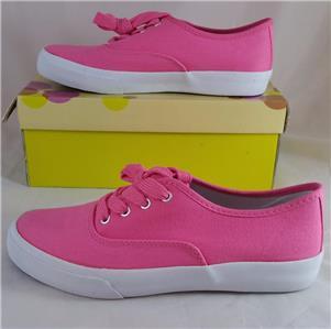 soda ribbon g s pink canvas sneaker tennis shoe