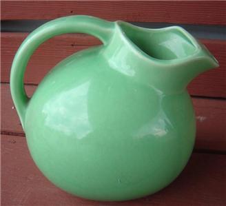 Antique green stoneware ball water pitcher usa ewer ebay - Bobble water pitcher ...