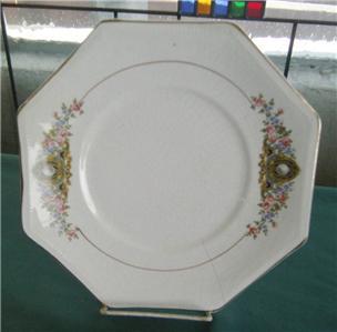 CO. MARTHA WASHINGTON PEARL OCTAGON 9 DINNER PLATE DINNERWARE