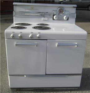 Details about 1950 FRIGIDAIRE GENERAL ELECTRIC STOVE GE PORCELAIN RM