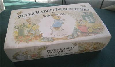 Wedgwood Peter Rabbit Nursery Set 2 Piece Cup Bowl Box Nib