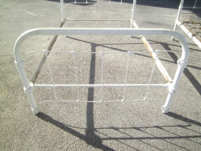 Antique Victorian Cast Iron Full Size Bed Frame W Rails