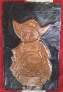Vintage Copper Raised Relief Dutch Girl Arts Amp Crafts Wall