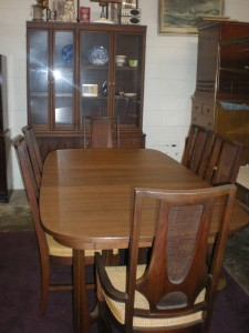 mid century broyhill brasilia dining room set sculpted
