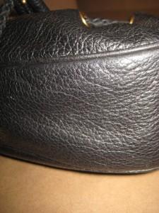 MICHAEL KORS Black Leather Hobo Drawstring Small Satchel Shoulder