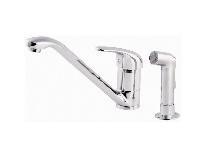 details about price pfister pro p214 single kitchen faucet chrome