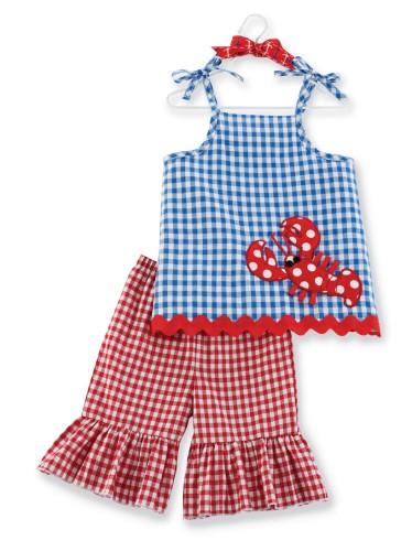 Mud-Pie-Baby-Girl-Little-Pincher-Tunic-amp-Flare-Pants-Set-12-18M-NEW