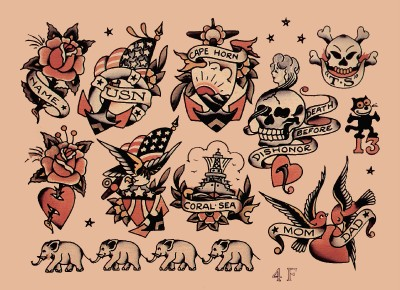 old school sailor tattoos