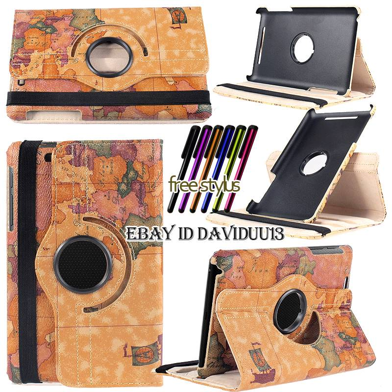 360 Deg Rotating Stand Leather Case Cover For Google nexus 7 1st 2012 2nd 2013