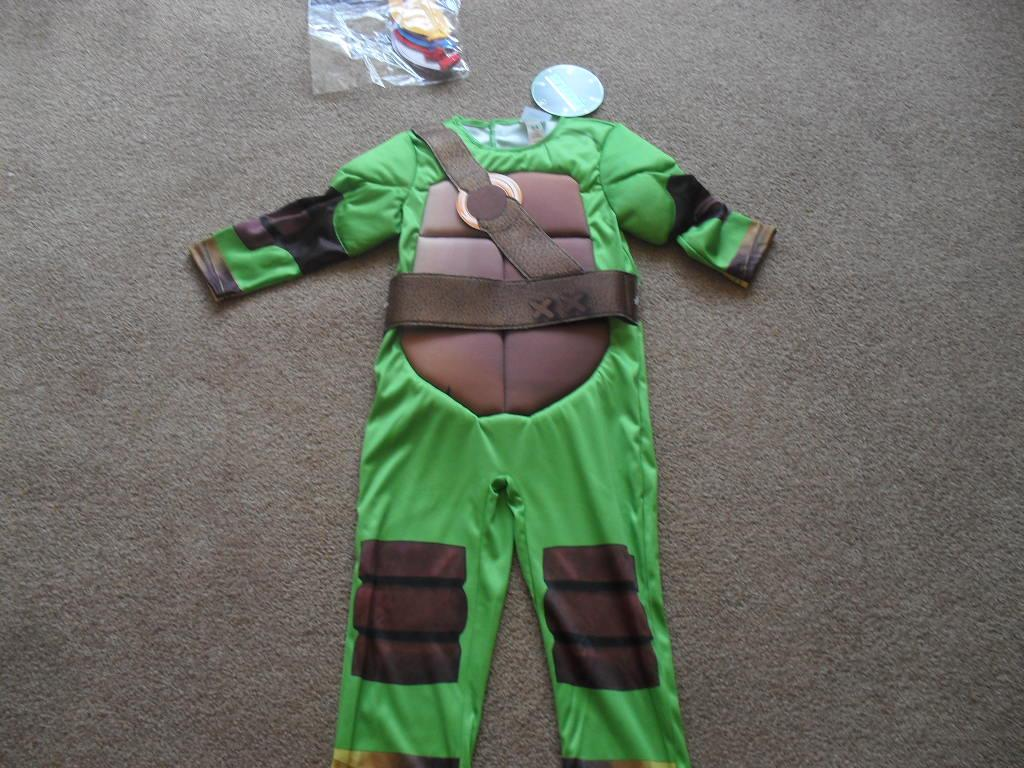 kost m jungen teenager ninja turtles verkleidung fasching neu mit etikett ebay. Black Bedroom Furniture Sets. Home Design Ideas