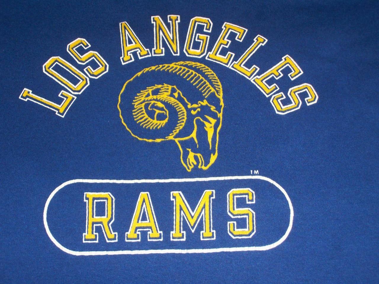 Vintage Los Angeles Rams 80s Champion T Shirt M Soft