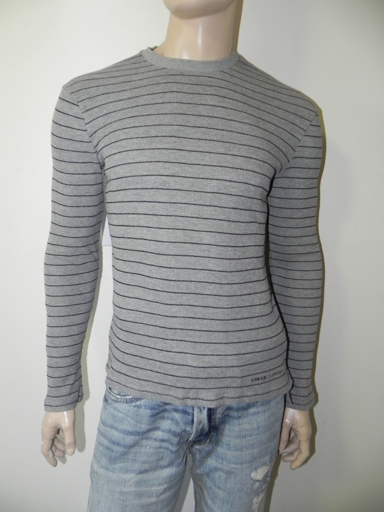 NWT-Armani-Exchange-A-X-Mens-Slim-Muscle-Fit-Thermal-Sweater