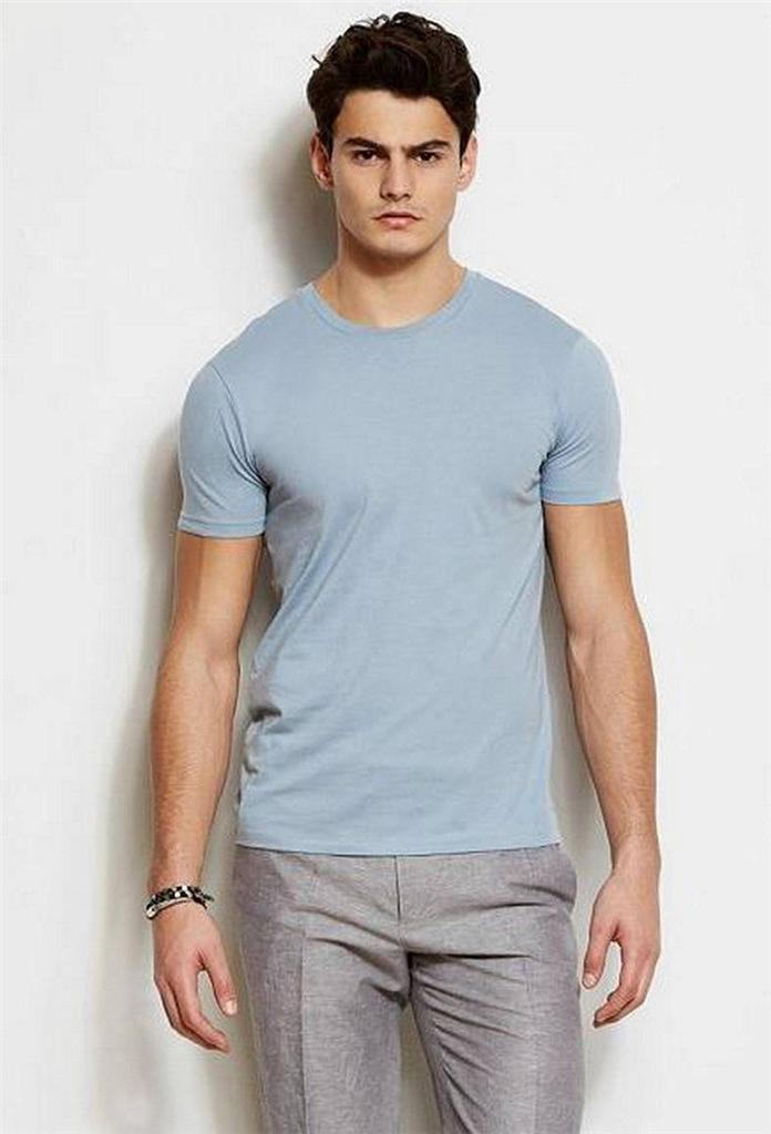 New Armani Exchange Ax Mens Slim Muscle Fit Pima Cotton