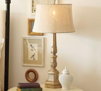 pottery barn astoria table lamp base gold finish new in box ebay. Black Bedroom Furniture Sets. Home Design Ideas