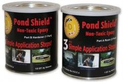 Pond armor epoxy sealer paint cement fish pond black ebay for Eastchester fish market