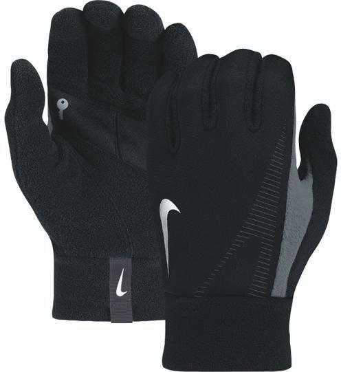 Nike Thermal Gloves: Brand New Nike Mens Thermal Running Fleece Gloves In Black