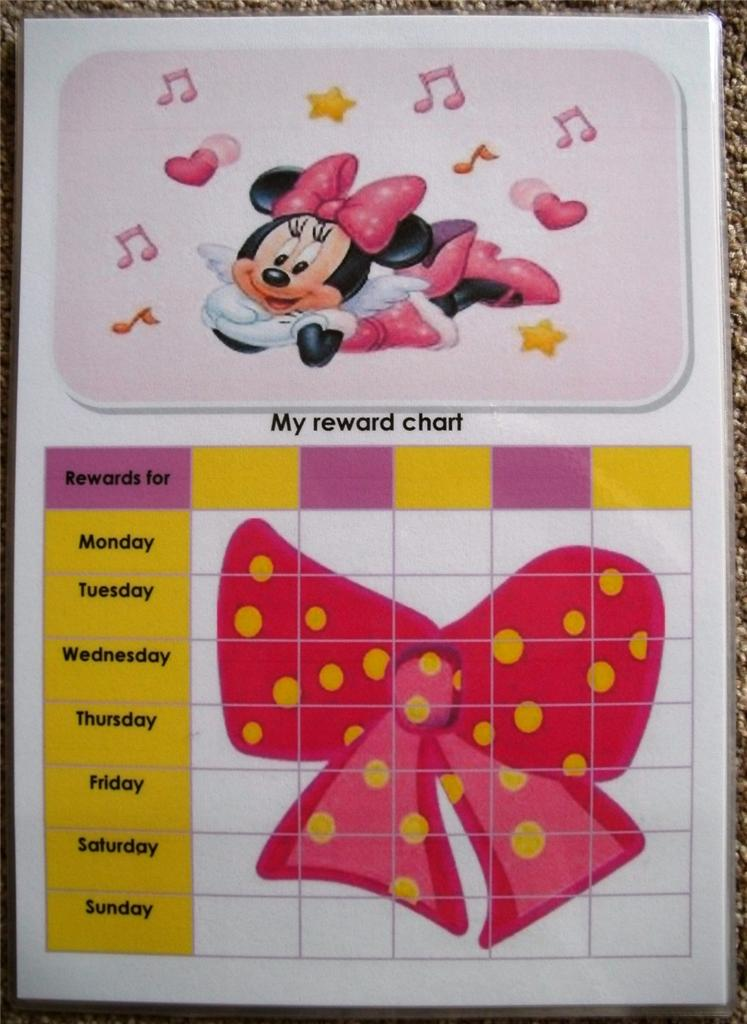 Reward Charts Personalised If Required 20 Designs All Colour Only £2
