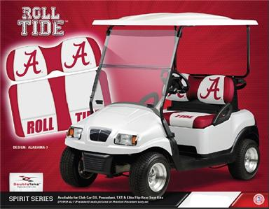ALABAMA BAMA ROLL TIDE GOLF CART SEAT NEW SEAT SET CS A