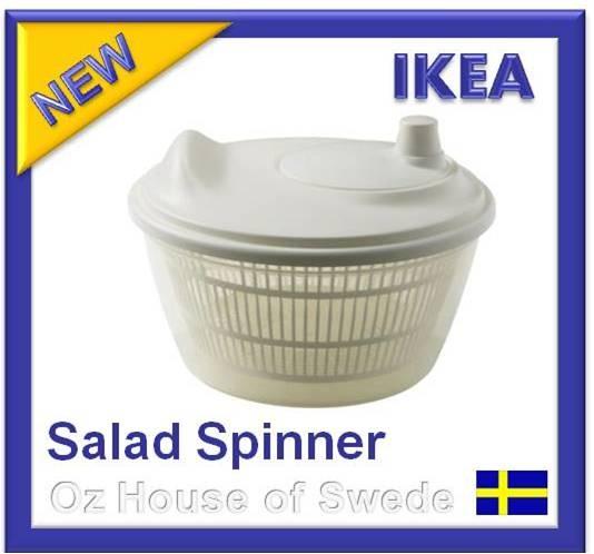 Ikea salad spinner white plastic server lettuce vegetable for Ikea tracking usa
