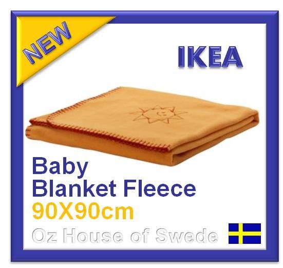 IKEA VITAMINER Polar Fleece Baby Blanket Rug Wrap Cot Bed