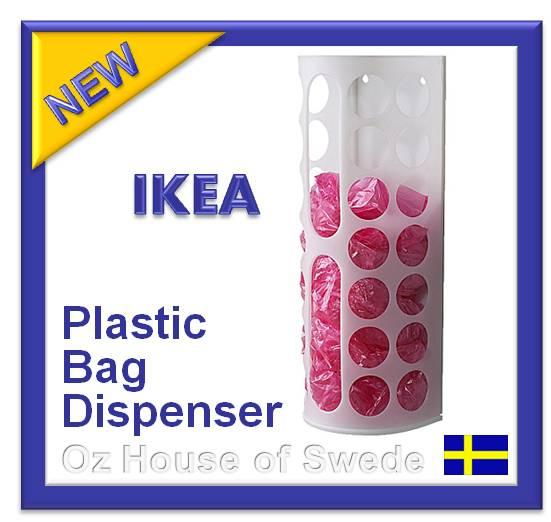 ikea plastic bag dispenser kitchen bags storage holder keeper white