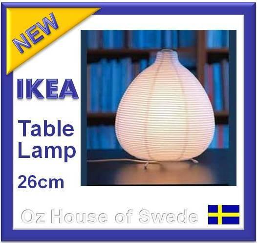 IKEA VATE Table Lamp Soft Mood Light Modern Rice Paper ...