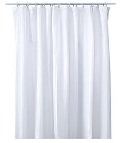 Ikea white shower curtain stripe 180 x180cm bonus 12 for Curtain rings ikea
