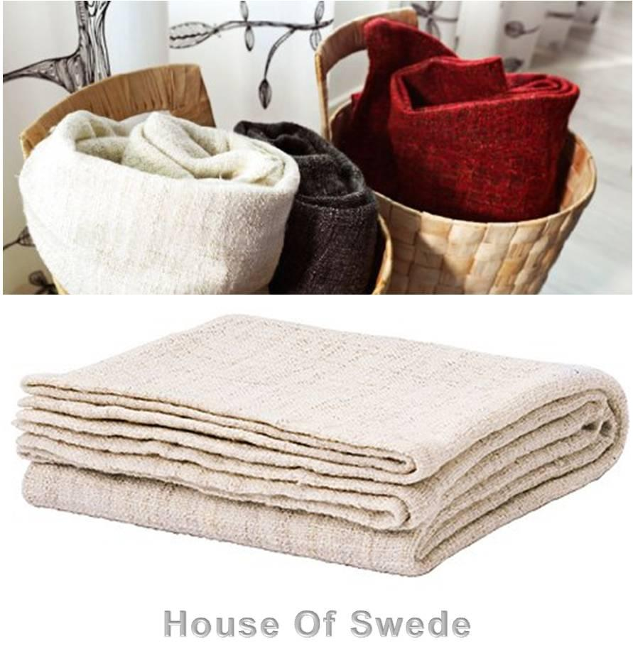 Throw Rugs On Sofas: IKEA Throw Rug Knee Blanket Bed Couch Sofa Beige Cream Off