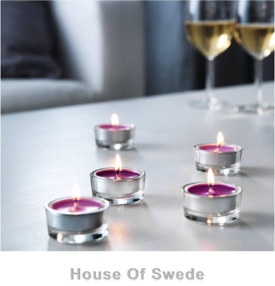 30 ikea tealight candles scented purple lilac sinnlig tea. Black Bedroom Furniture Sets. Home Design Ideas