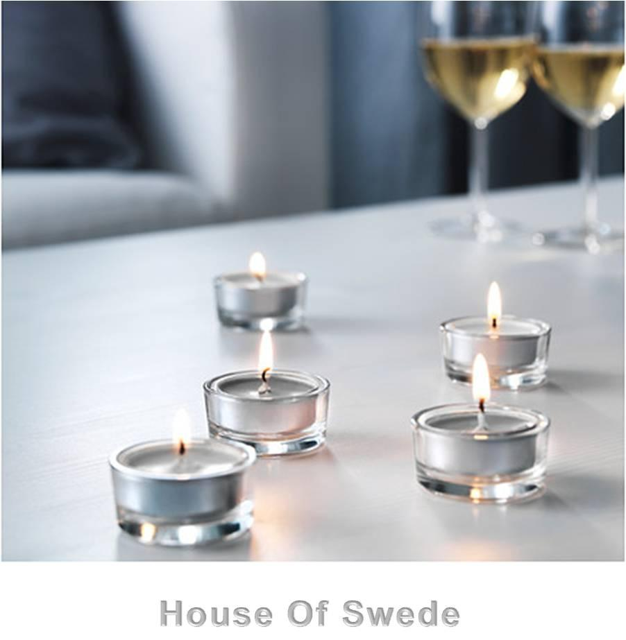 30 ikea tealight candles scented grey spa sinnlig tea. Black Bedroom Furniture Sets. Home Design Ideas