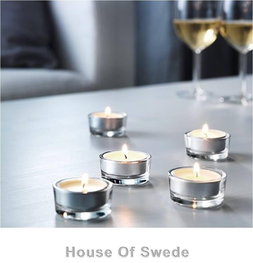 30 ikea tealight candles scented white vanilla sinnlig tea