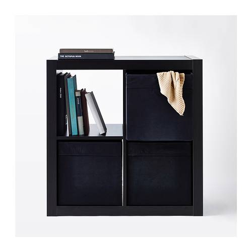 1x ikea drona fabric cube storage box for expedit bookcase. Black Bedroom Furniture Sets. Home Design Ideas