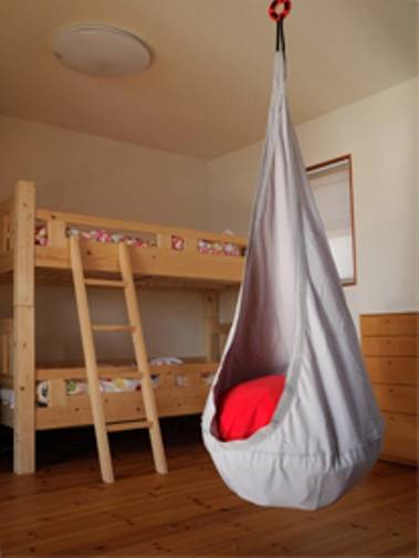 ikea ekorre swing hanging seat kids swinging chair hammock in outdoor air pillow ebay. Black Bedroom Furniture Sets. Home Design Ideas