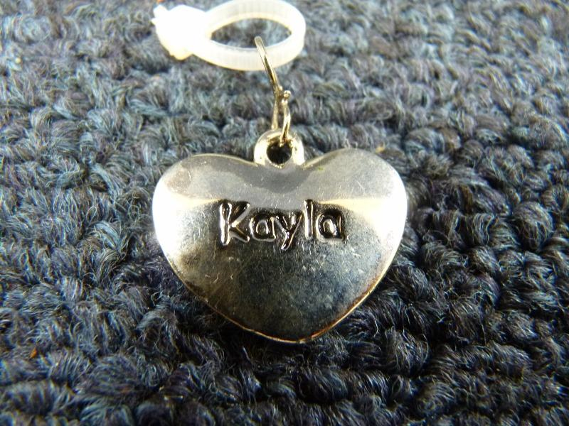 Ganz personalized silver heart metal charm ornament key
