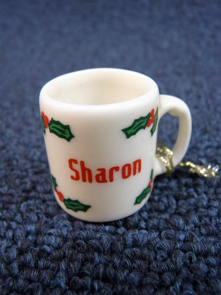 Cute ganz personalized name christmas mug coffee cup holly for Unique christmas mugs
