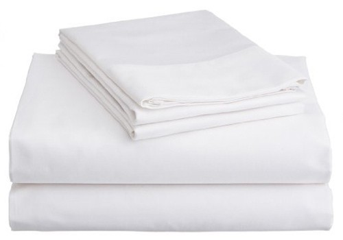 Brand-New-Percale-King-Bed-225TC-Sheet-Set-With-38cm-Wall-White