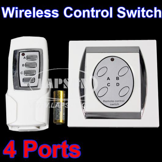 4-Ports-Light-Wireless-Digital-Remote-Control-Switch-House-Wall-Power-Button-AU